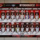 ŻUŻEL - płyta z autografami uczestników SGP 2014 - Bydgoszcz