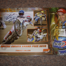 ŻUŻEL - tablica z autografami uczestników Grand Prix 2010 - Bydgoszcz