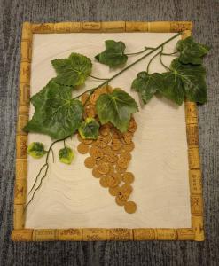 Miniatura produktu Korkowy obrazek - winorośl