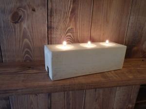 Miniatura produktu Drewniany świecznik