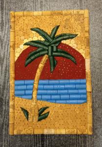 Miniatura produktu Korkowy obrazek - palma